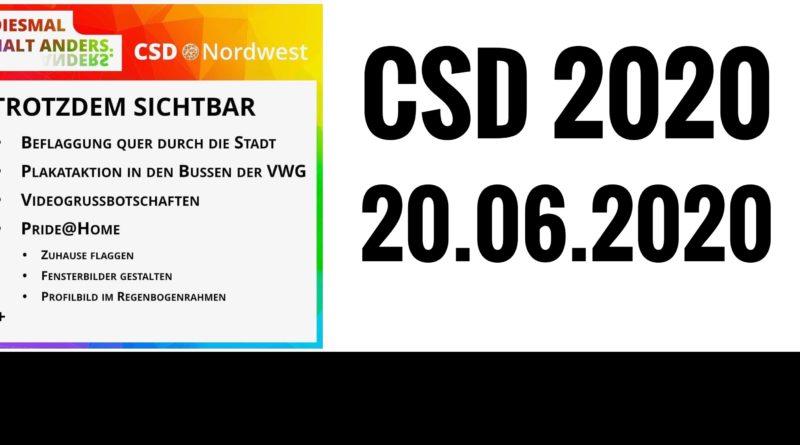 CSD Nordwest 2020: Diesmal halt anders