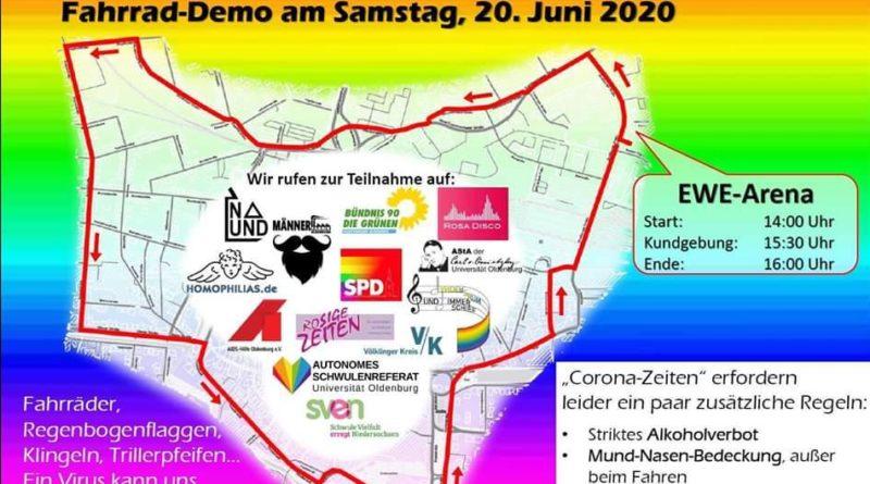 CSD 2020: Aufruf zur Fahrrad-Demo am 14.06.
